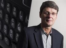<p>Thorsten Heins poses for a portrait at the Research in Motion (RIM) company headquarters in Waterloo, Ontario, January 22, 2012. REUTERS/Geoff Robins</p>