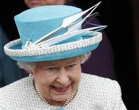 <p>Britain's Queen Elizabeth smiles as she leaves after visiting the Town Hall in King's Lynn, in Norfolk, eastern England February 6, 2012. Today marks the 60th anniversary of Queen Elizabeth's accession to the throne. REUTERS/Andrew Winning</p>