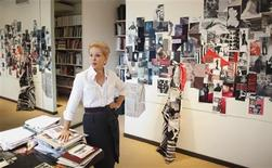 <p>Designer Carolina Herrera poses for a portrait as she takes a break from preparing for her upcoming show in New York's Fashion Week at her studio in New York February 2, 2012. REUTERS/Lucas Jackson</p>
