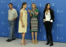 """<p>Director Benoit Jacuot (L-R), cast members Lea Seydoux, Diane Kruger and Virginie Ledoyen pose during a photocall to promote the movie """"Farewell my Queen"""" at the 62nd Berlinale International Film Festival in Berlin February 9, 2012. REUTERS/Tobias Schwarz</p>"""