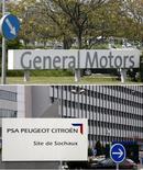 <p>General Motors poursuit des discussions à un stade avancé en vue de prendre une petite participation -probablement moins de 5%- dans Peugeot dans le cadre de leur projet d'alliance stratégique en Europe, selon des sources proches du dossier. /Photos d'archives/REUTERS/Heinz-Peter Bader/Vincent Kessler</p>