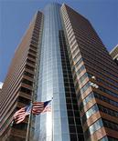 <p>Le siège d'AIG à New York. American International Group a levé quelque six milliards de dollars (4,5 milliards d'euros) en cédant une partie de sa participation dans AIA, numéro trois de l'assurance en Asie. Cette somme servira à rembourser l'Etat fédéral américain, qui avait procédé au sauvetage du groupe lors de la crise de 2008. /Photo d'archives/REUTERS/Shannon Stapleton</p>