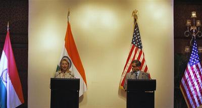 Hillary Clinton in India