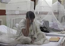 <p>Sanofi Pasteur, la division vaccins de Sanofi, annonce qu'un premier essai mondial relatif à son vaccin contre la dengue a démontré son efficacité. Aucun traitement spécifique ne s'attaque aujourd'hui à la maladie due à un virus transmis par des moustiques qui frappe essentiellement l'Amérique latine et l'Asie. /Photo d'archives/REUTERS/Mohsin Raza</p>