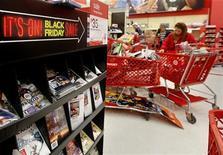 <p>Les Américains ont débuté leurs courses du long week-end de Thanksgiving plus tôt que les années précédentes et ont été plus nombreux à acheter en ligne, offrant aux distributeurs un solide début de saison commerciale hivernale. Tous supports confondus, les ventes se sont élevées ce week-end à 59,1 milliards de dollars (45,56 milliards d'euros), soit une hausse de 12,8% par rapport à 2011. /Photo prise le 23 novembre 2012/REUTERS/Shannon Stapleton</p>