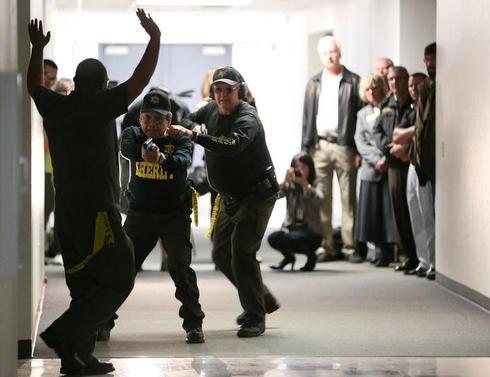Defending schools with Steven Seagal