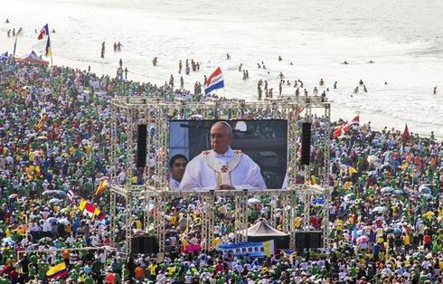 Pope visits Brazil