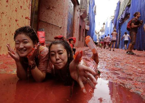 The great tomato fight