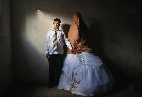 Palestinian teen wedding