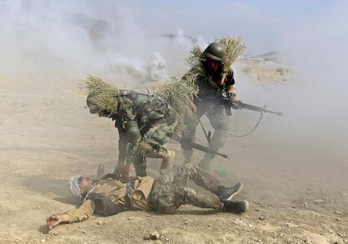 Afghan Army training