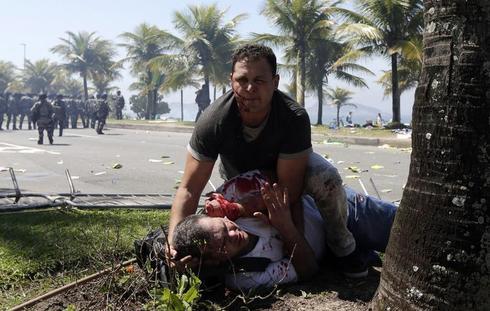 Brazilian oil sale protests