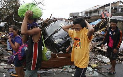 Tacloban in ruins