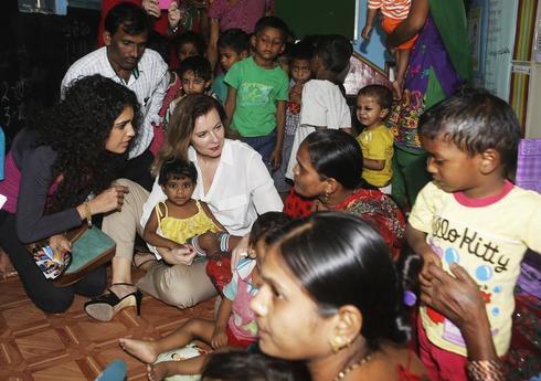 Valerie Trierweiler in India