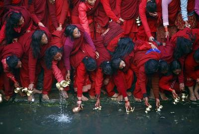 Holy waters in Nepal
