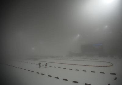Fog envelops Sochi