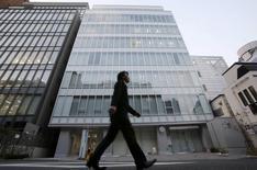 """Le siège de MtGox à Tokyo. Cette plate-forme d'échange de Bitcoins (une monnaie virtuelle) qui a fermé ses portes le mois dernier, annonce vendredi avoir retrouvé début mars 200.000 bitcoins """"oubliés"""", après s'être mise sous la protection de la législation japonaise des faillites. /Photo prise le 25 février 2014/REUTERS/Toru Hanai"""