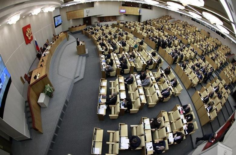 Deputies attend a session of the Duma, Russia's lower house of Parliament, in Moscow January 25, 2013. REUTERS/Sergei Karpukhin/Files