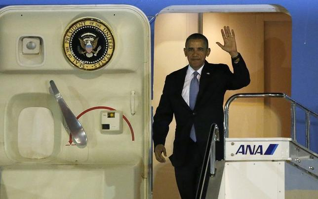 4月23日、オバマ米大統領がアジア歴訪を開始するが、オバマ政権の「アジア重視」政策は具体性が依然乏しいままだ(2014年 ロイター/Toru Hanai)