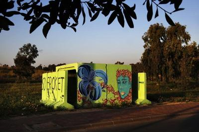 Israel's colorful bomb shelters