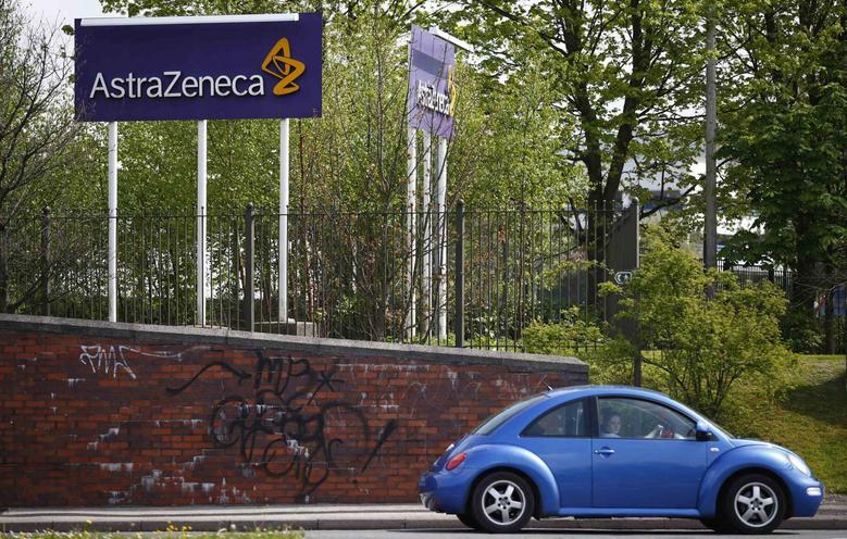 A car is driven past an AstraZeneca site in Macclesfield, central England April 28, 2014.   REUTERS/Darren Staples