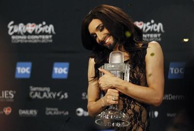 'Bearded lady' wins Eurovision