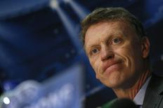 Manchester United's manager David Moyes looks on during a news conference at Old Trafford in Manchester, northern England March 31, 2014.  REUTERS/Stefan Wermuth