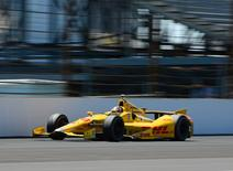 May 25, 2014; Indianapolis, IN, USA; IndyCar Series driver Ryan Hunter-Reay during the 2014 Indianapolis 500 at Indianapolis Motor Speedway. Mandatory Credit: Justin Tooley-USA TODAY Sports