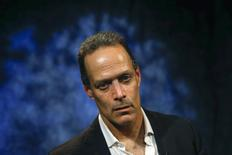 Sebastian Junger, director of the Oscar-nominated war documentary Restrepo and its upcoming sequel Korengal, sits for a portrait in New York May 28, 2014.  REUTERS/Shannon Stapleton