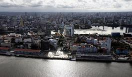An aerial view is seen of the city of Recife, northeastern Brazil, April 6, 2014. REUTERS/Paulo Whitaker/Files
