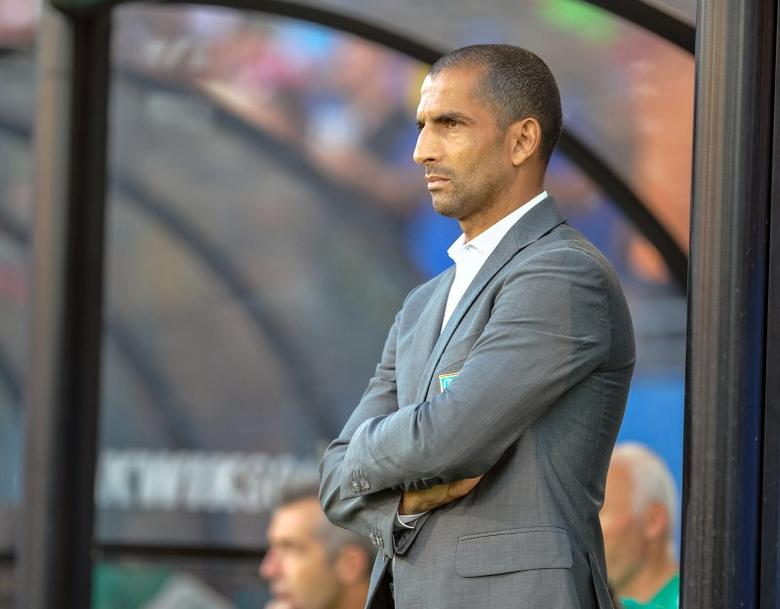 Jun 4, 2014; Frisco, TX, USA; Ivory Coast head coach Sabri Lamouchi before the game against El Salvador at Toyota Stadium. Ivory Coast defeats El Salvador 2-1. Mandatory Credit: Jerome Miron-USA TODAY Sports