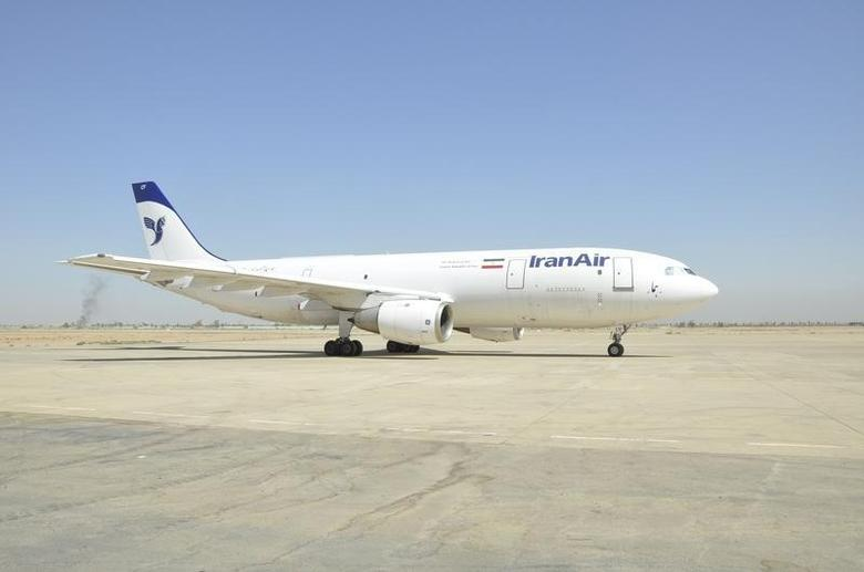An Iranian cargo plane is seen on the tarmac during inspection at Baghdad's airport October 2, 2012. REUTERS/Iraqi Civil Aviation Authority/Handout