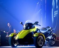 Bombardier Recreational Products Inc. (BRP),  introduces the 2008 Can-Am Spyder roadster in Valcourt, Quebec February 5, 2007. REUTERS/Christinne Muschi