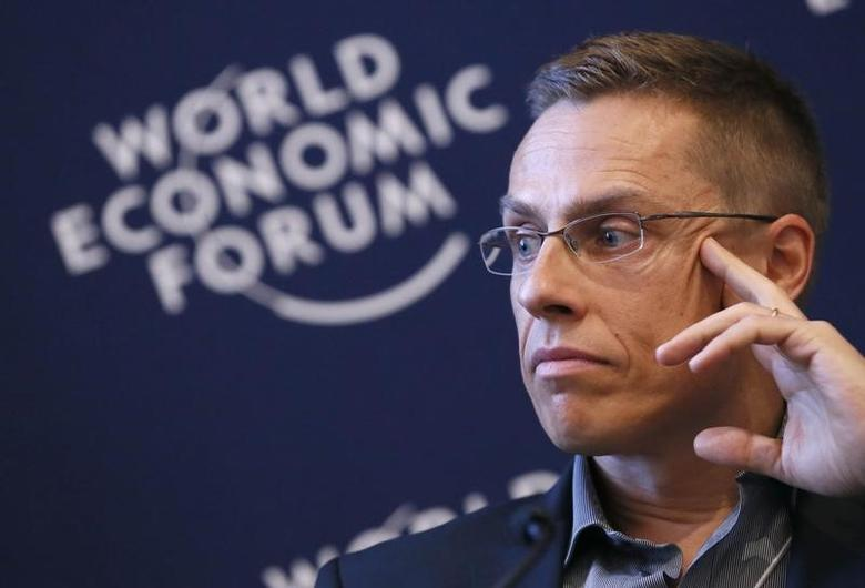 Finland's Alexander Stubb attends the annual meeting of the World Economic Forum (WEF) in Davos January 26, 2013.                REUTERS/Pascal Lauener