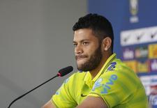 Meia-atacante Hulk é dúvida em jogo do Brasil contra México na Copa do Mundo. REUTERS/Marcelo Regua