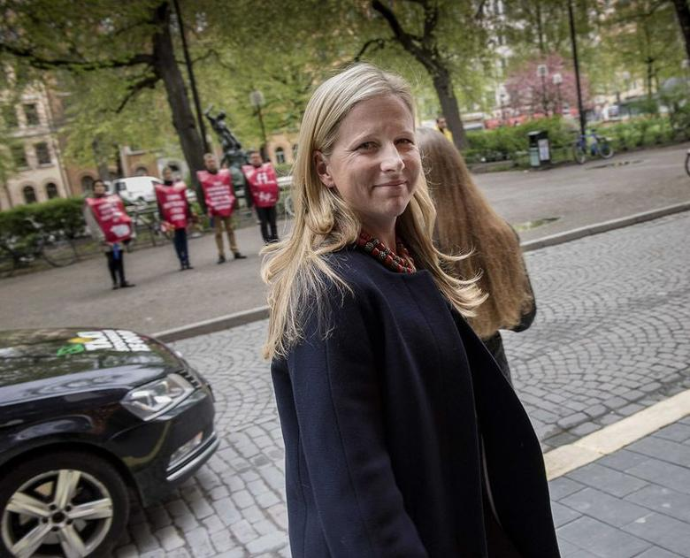Swedish-American heiress Cristina Stenbeck, executive chairman and principal owner of Investment AB Kinnevik, looks on in Stockholm, May 12, 2014. REUTERS/Jonas Ekstromer/TT News Agency