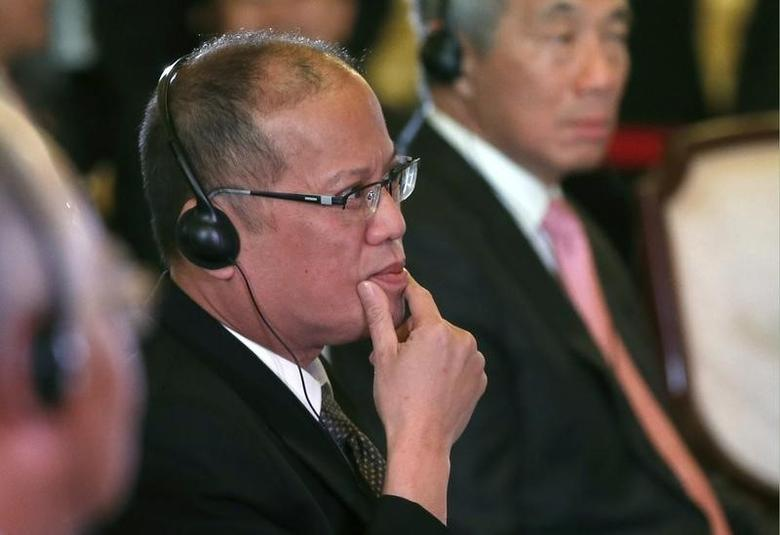 Philippine President Benigno Aquino attends the first session of the ASEAN-Japan Commemorative Summit Meeting at the state guest house in Tokyo December 14, 2013.  REUTERS/Toru Hanai