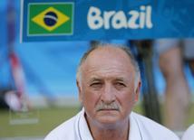 Luiz Felipe Scolari antes do jogo Brasil x Chile. 28/06/2014 REUTERS/Sergio Perez