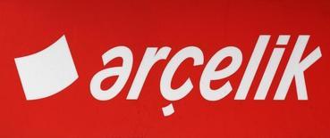 The Arcelik logo is seen on signage outside an Arcelik dealer in Istanbul, October 16, 2011. REUTERS/Murad Sezer