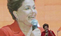 Presidente Dilma Rousseff durante convenção do PT em Brasília. 21/06/2014. REUTERS/Joedson Alves