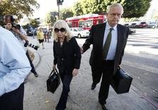 Shelly Sterling, 79, (L) arrives at court with her lawyer Pierce O'Donnell in Los Angeles, California July 7, 2014. REUTERS/Lucy Nicholson