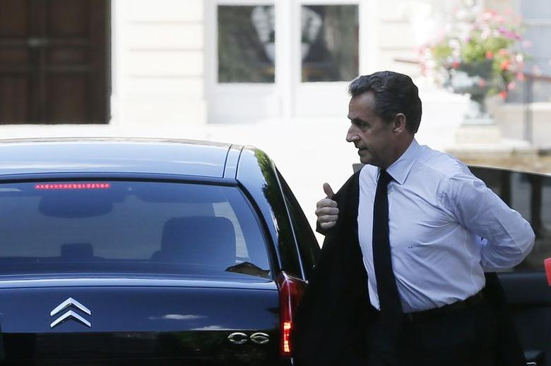 Former French President Nicolas Sarkozy arrives at the National Assembly in Paris June 25, 2014.    REUTERS/Gonzalo Fuentes
