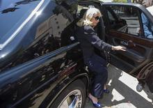 Shelly Sterling, 79, arrives at court in Los Angeles, California July 8, 2014. REUTERS/Lucy Nicholson