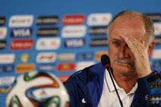 Técnico da seleção brasileira, Luiz Felipe Scolari, durante entrevista coletiva em Brasília. 11/07/2014. REUTERS/Ueslei Marcelino
