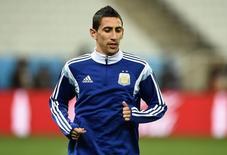 Ángel Di María, da seleção da Argentina, durante treino em São Paulo. 08/07/2014. REUTERS/Dylan Martinez