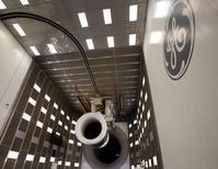 GE Aviation (groupe General Electric) pense atteindre dès ce mardi son objectif de 30 milliards de dollars (22 milliards d'euros) de commandes au Salon aéronautique de Farnborough. /Photo d'archives/REUTERS/Matt Sullivan