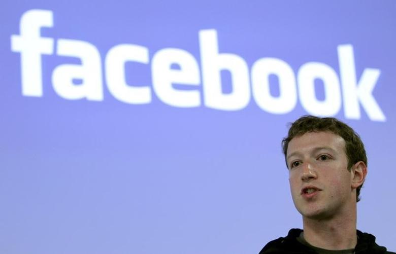 Facebook CEO Mark Zuckerberg speaks during a news conference at Facebook headquarters in Palo Alto, California May 26, 2010.  REUTERS/Robert Galbraith
