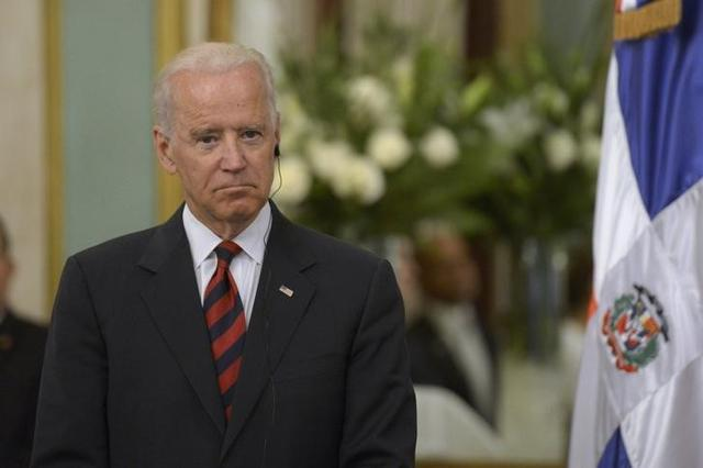 U.S. Vice President Joe Biden attends a news conference at the Presidential Palace in Santo Domingo June 19, 2014. REUTERS/Luz Sosa