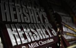 Hershey's candy bars are displayed at a gas station in Phoenix, Arizona October 27, 2011. REUTERS/Joshua Lott