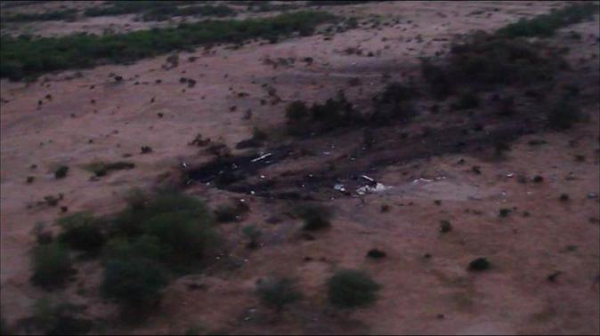 The crash site of Air Algerie flight AH5017 is seen near the northern Mali town of Gossi in this undated handout picture released by ECPAD, the French Army Communication Audiovisual office, on July 25, 2014. REUTERS-ECPAD-Handout via Reuters