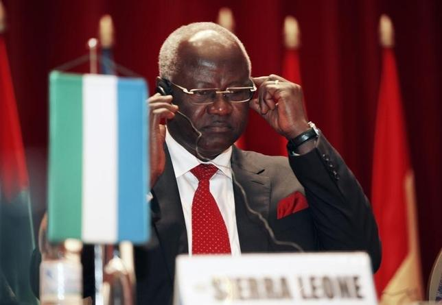 Sierra Leone's President Ernest Bai Koroma attends a meeting of regional group Economic Community of West African States (ECOWAS) in Yamoussoukro June 29, 2012. REUTERS/Thierry Gouegnon